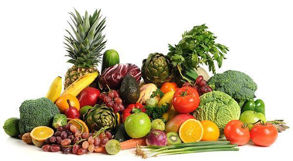 میوه و سبزیجات تازه برای رژیم غذایی بعد از عمل زیبایی شکم