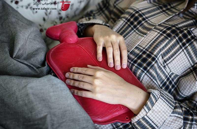 تسکین دردهای پریودی با گرما